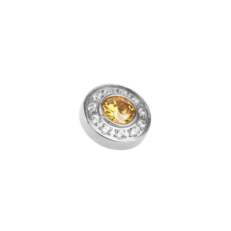 daNicci Brilliance 9 mm Zilver Diamond/Yellow