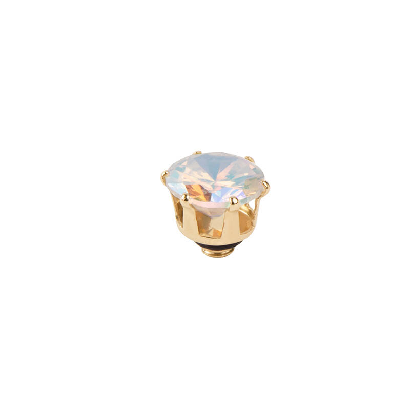 daNicci Crown 7mm Gold Cristal AB