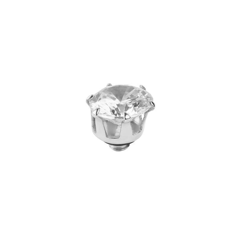 daNicci Crown 7mm Silver Diamond