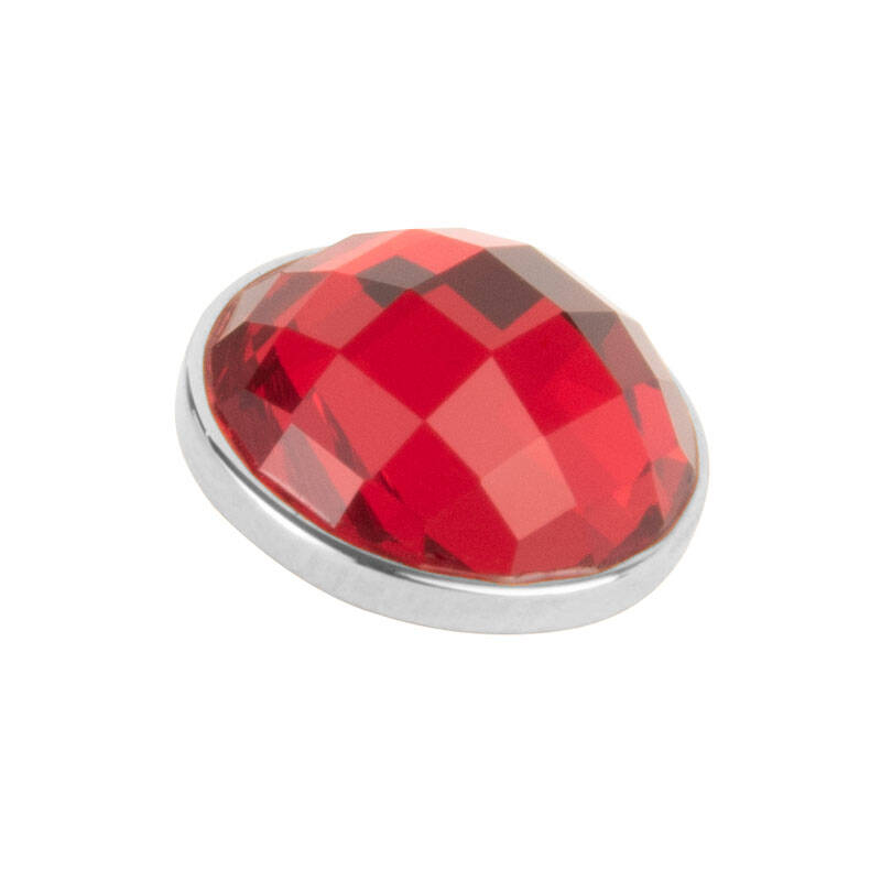 daNicci Facet 12 mm Zilver Ruby