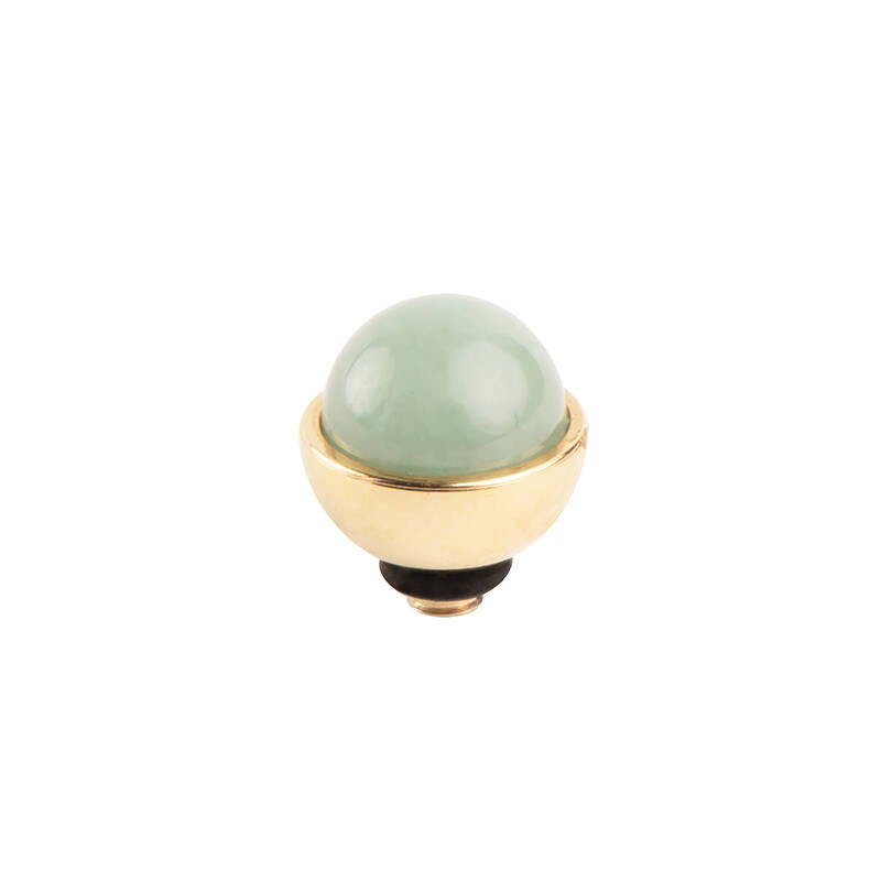 daNicci Mount 7mm Gold New Jade