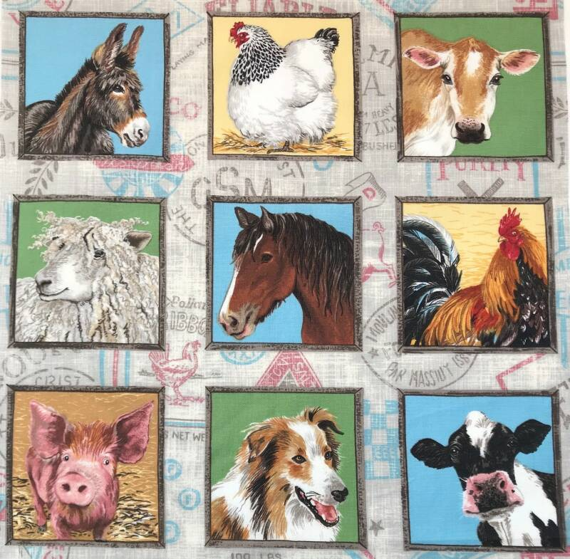 Animals labels farm 7