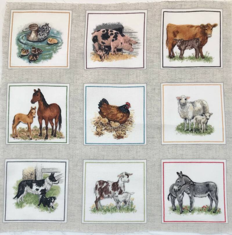 Animals  labels farm 10