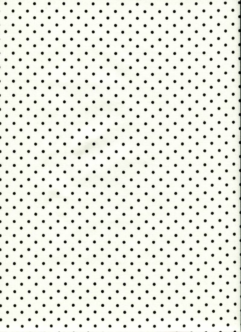 Black and white dots on white