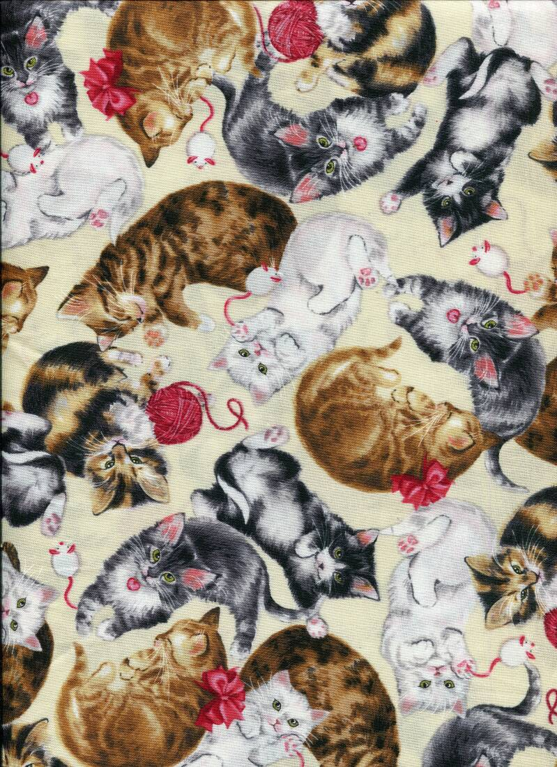 Cats and dogs cat 25 long quarter 23x110cm