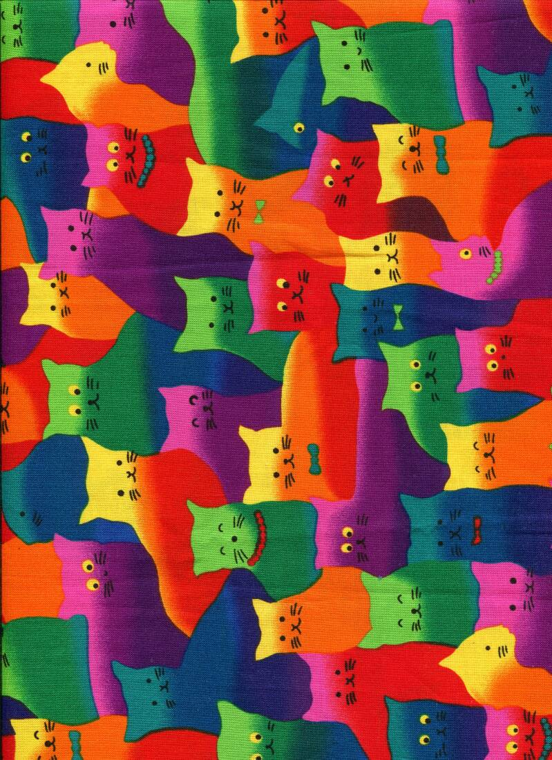Cats and dogs cat 3 fancy cats long quarter 23x110cm
