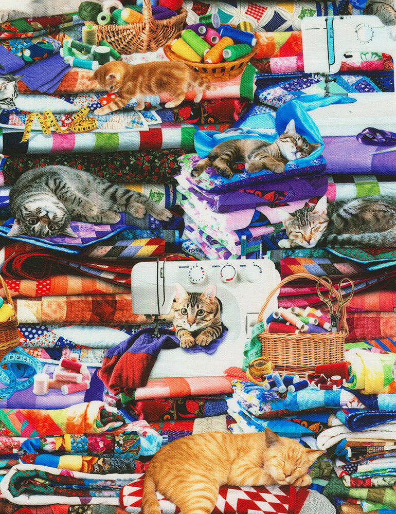 Cats and dogs Cats on Quilts-Cat-CD6878-Multi