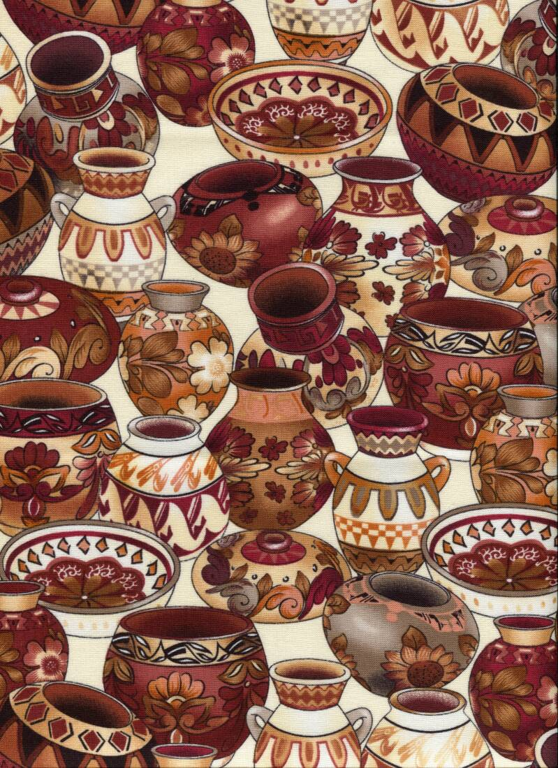 Countries African pottery brown on white