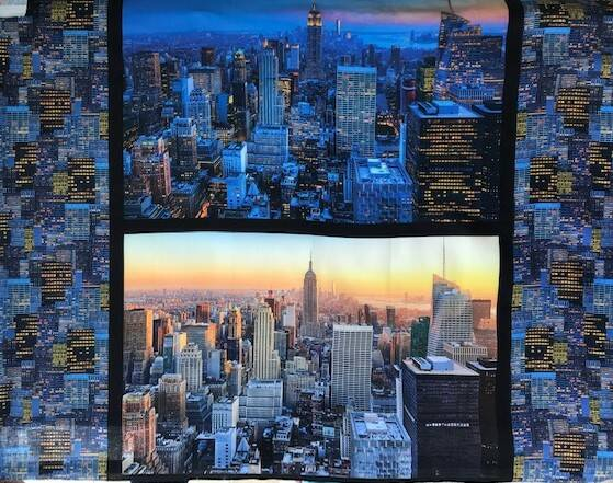 Countries panel city New York by night 90x110cm
