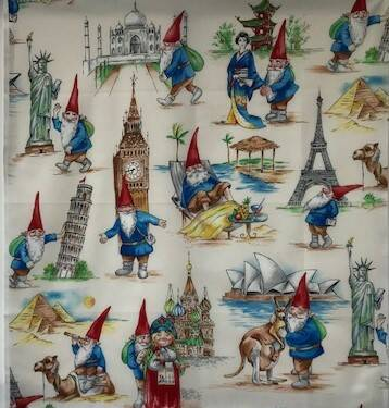 Countries city gnome panel 55x60cm