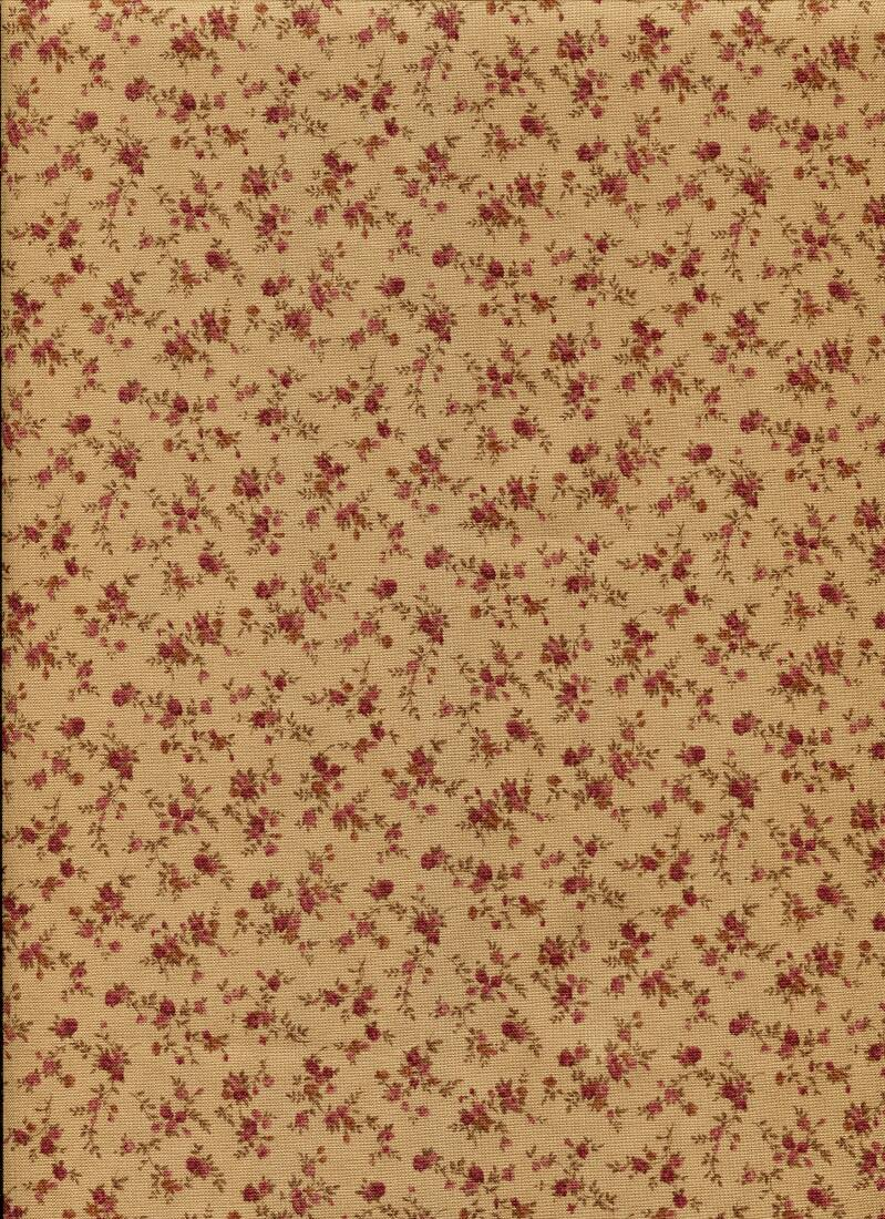 FlowersTiny little roses on beige
