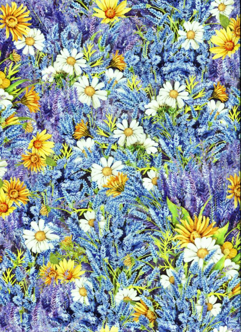 Flowers lavender with cornflowers