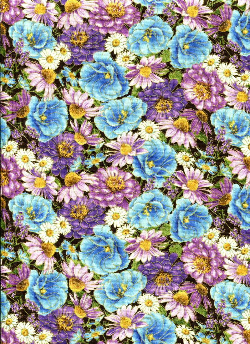 Flowers multi colors with metallic