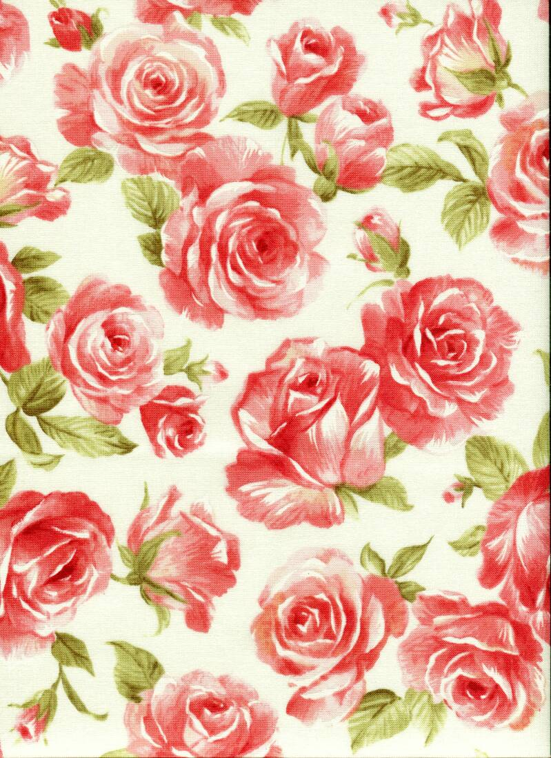 Flowers roses C12 on cream