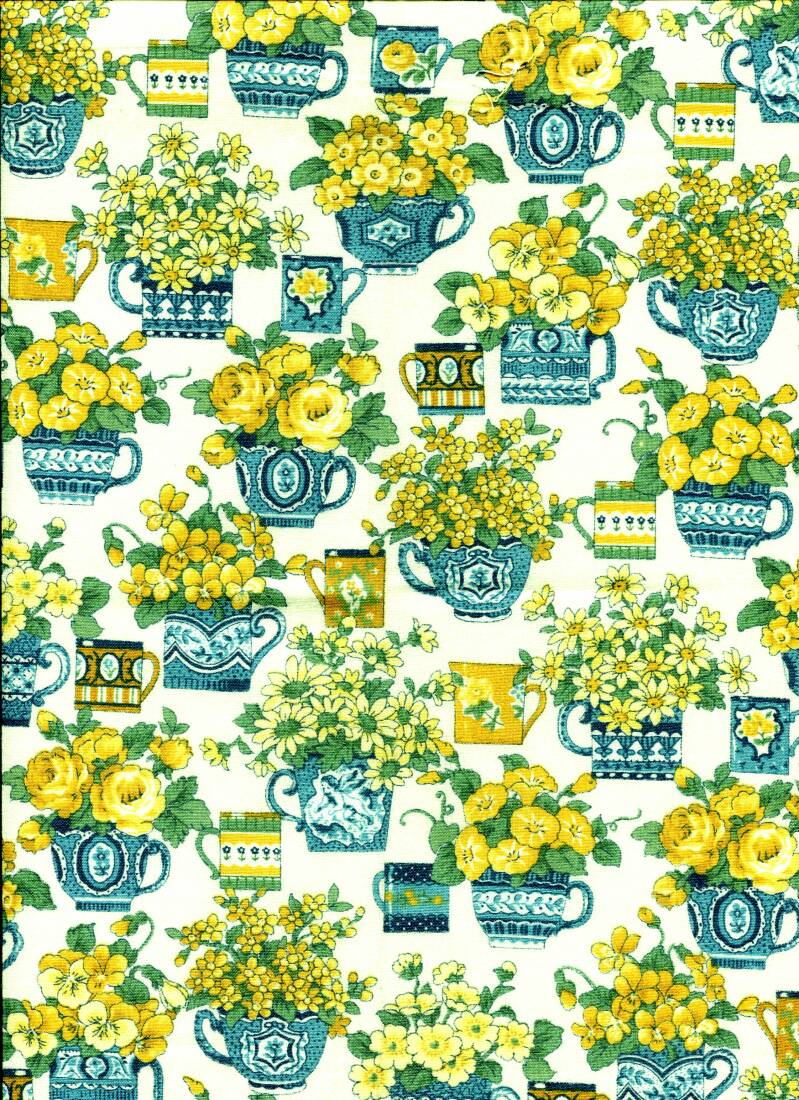 Flowers teapot with flowers