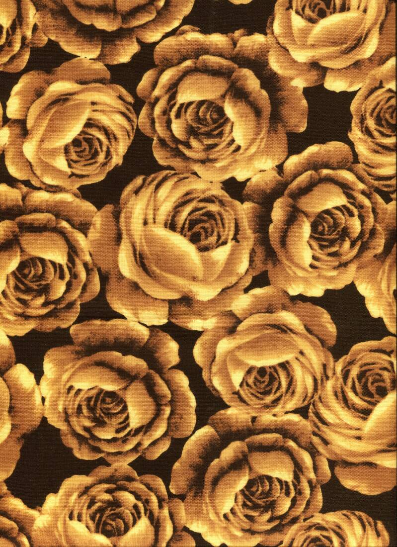 Flowers yellow roses on black