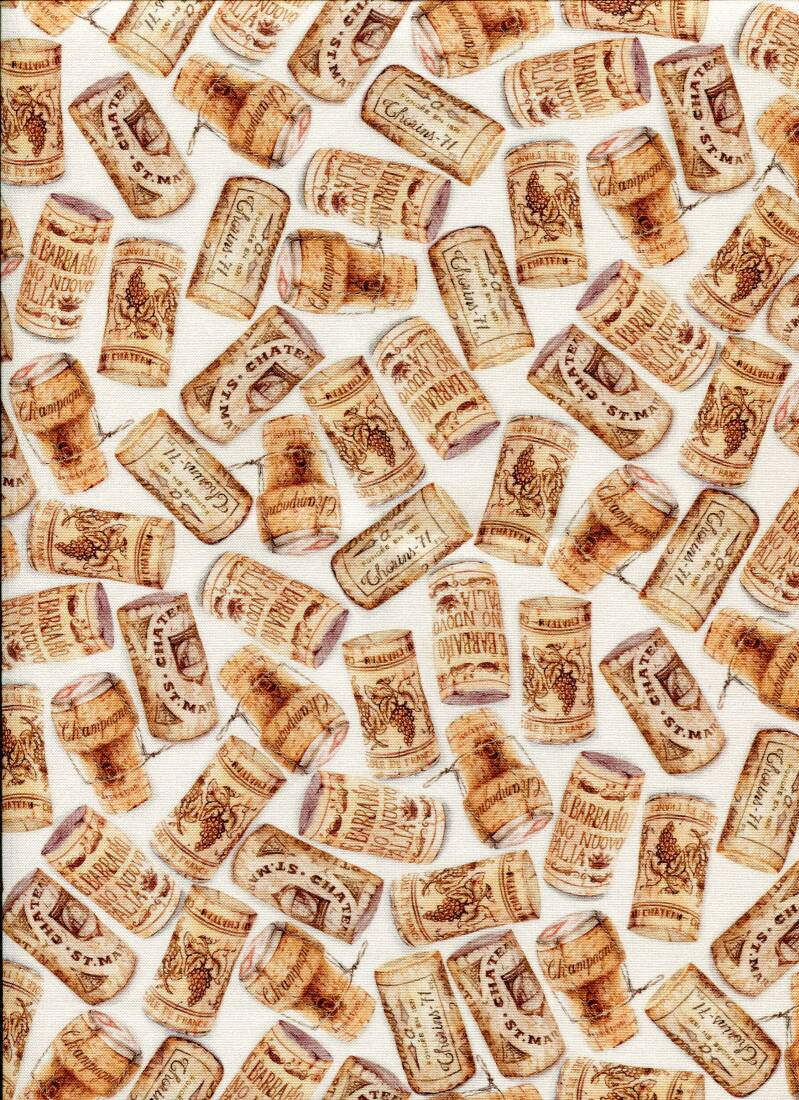 Food corks on white