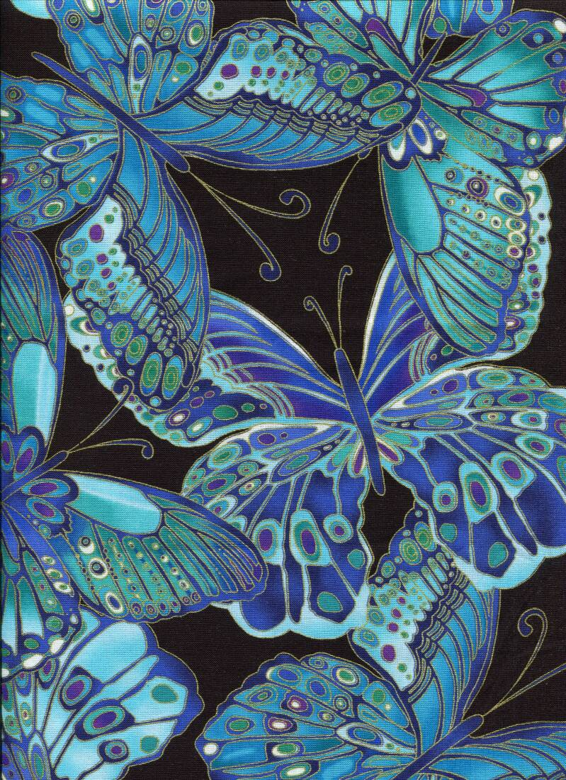Insects ins 3 with metallic long quarter 23x110cm