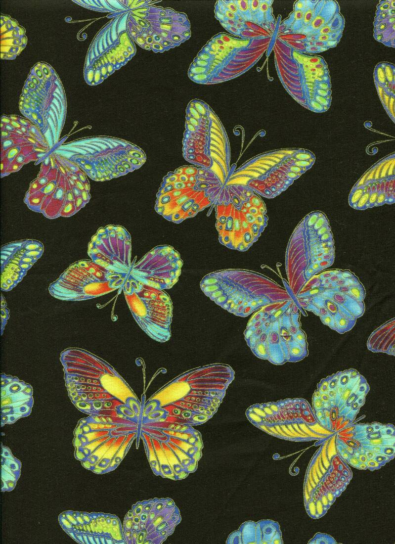 Insects ins 5 with metallic long quarter 23x110cm