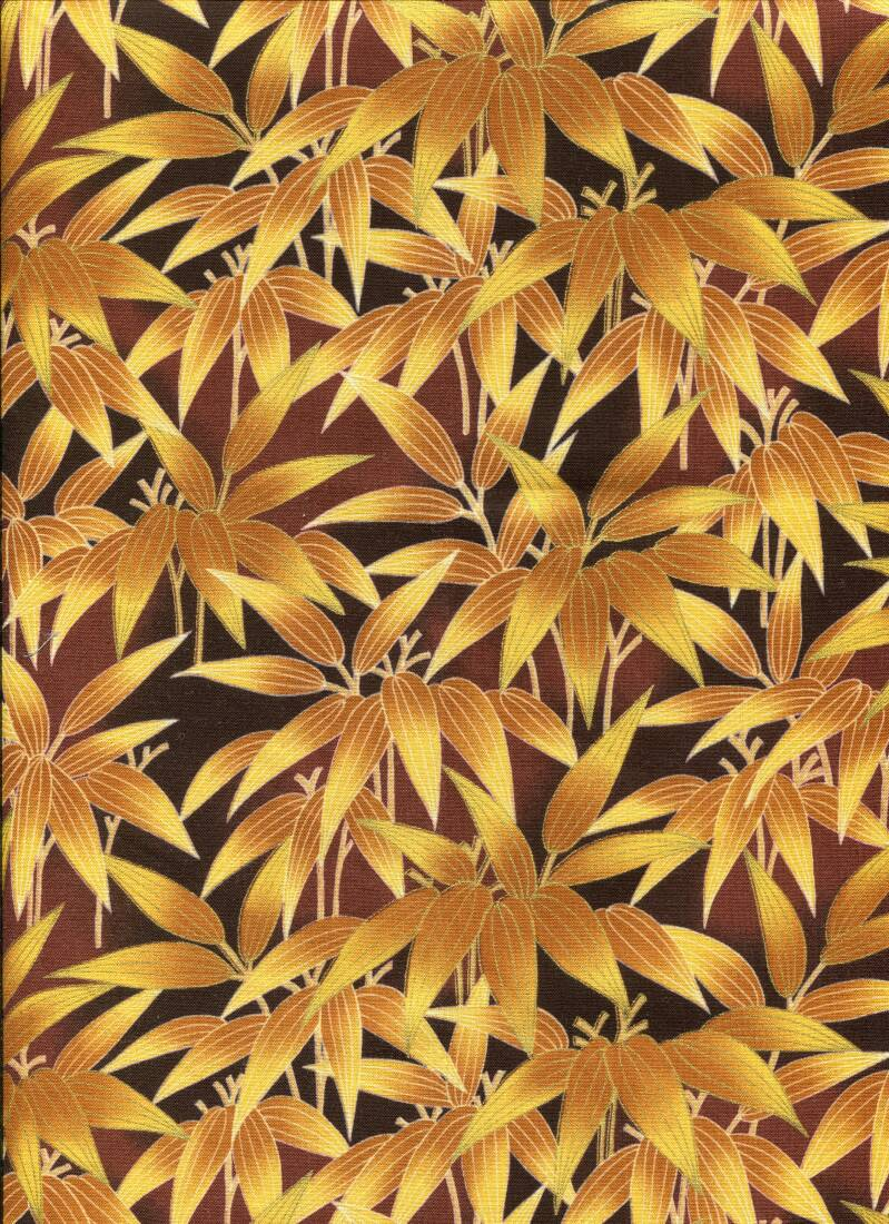 Japanese leaves brown with metallic