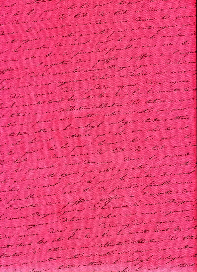 Library script on pink