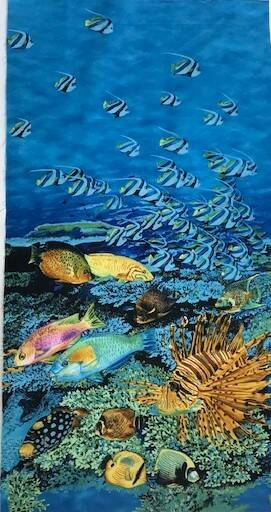 Maritime panel tropical fishes