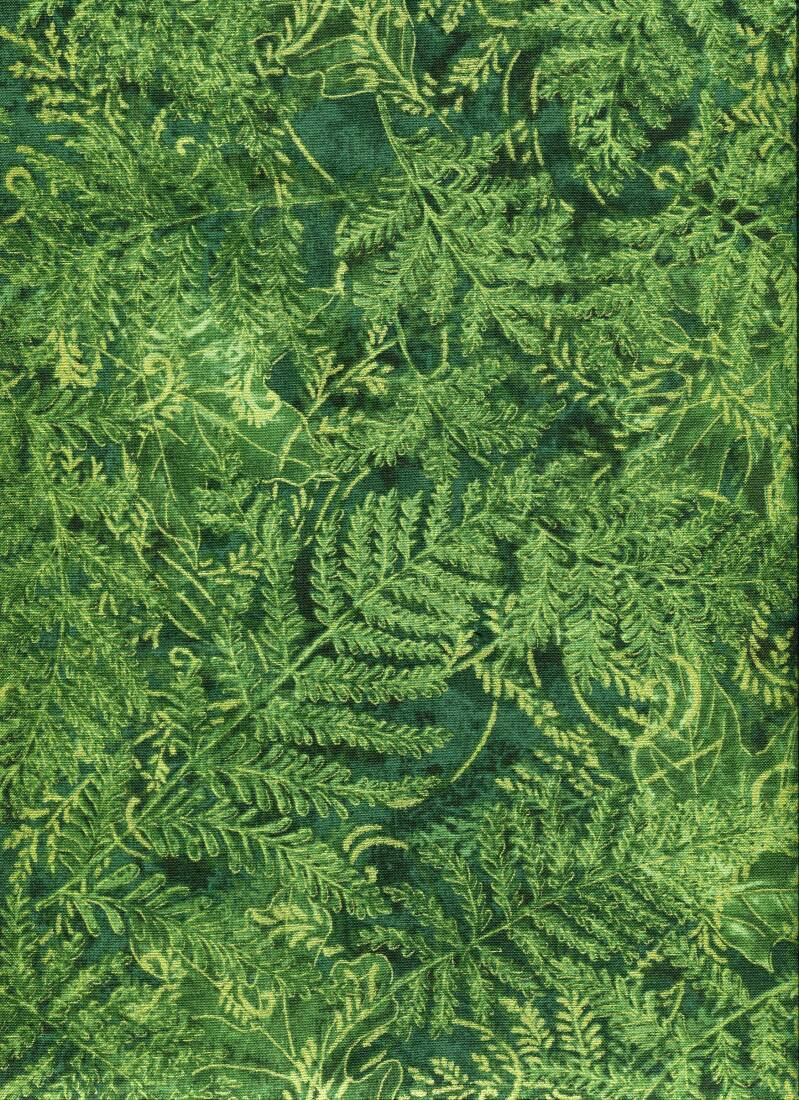 Nature ferns with gold