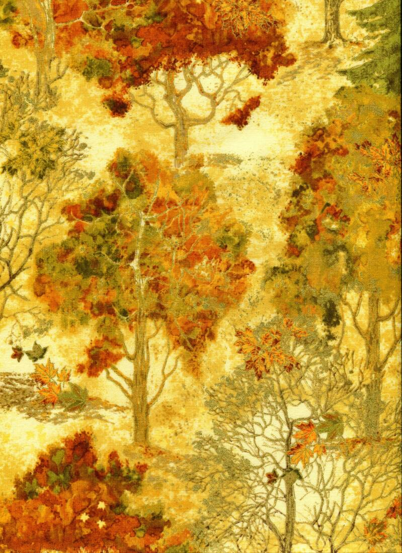 Nature forest with metallic gold