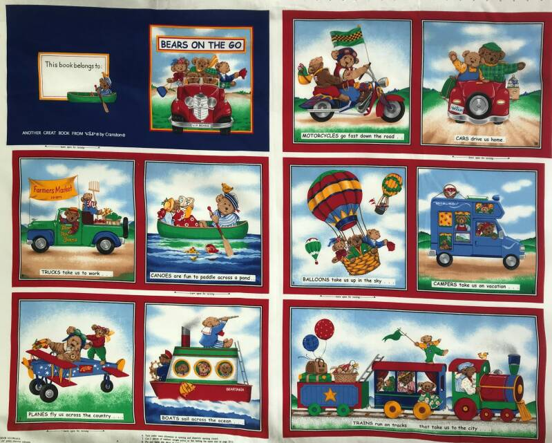 Babies and children book with bears Panel 90x110cm