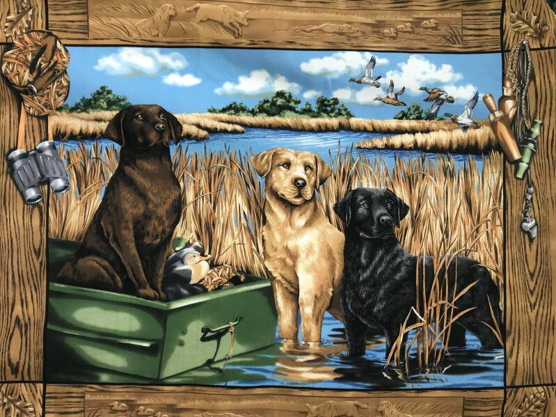 Animals hunting dogs Panel 90x 110cm