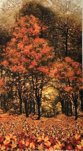 Nature autumn Panel 60x110cm