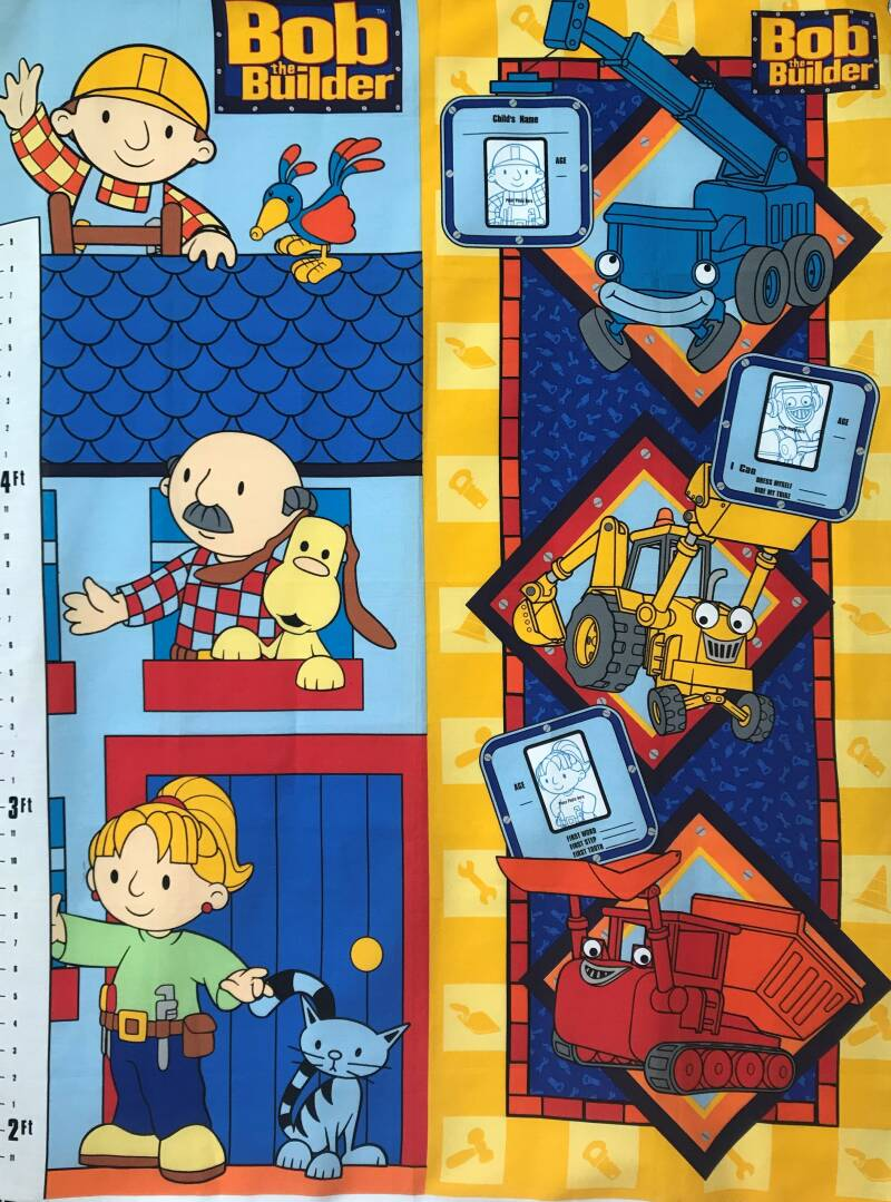 Babies and children Bob the builder Panel 90x110cm