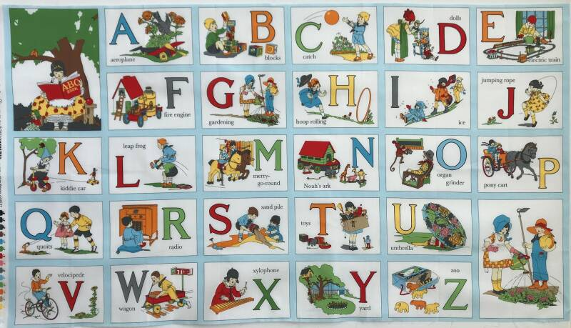 Babies and children my ABC-book Panel 60x110cm