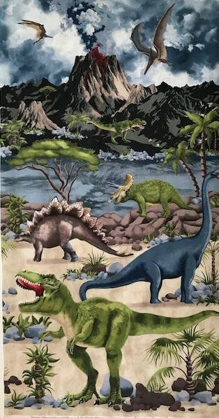 Babies and children panel dinosaurs 60x110cm