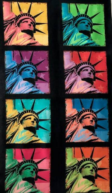 Countries liberty on black Panel 60x110cm