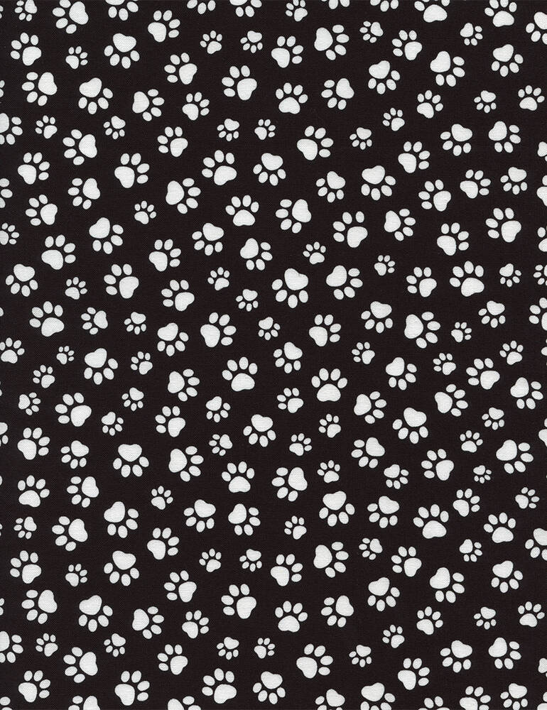 Cats and dogs Paw Prints-Paw-C1846-Black