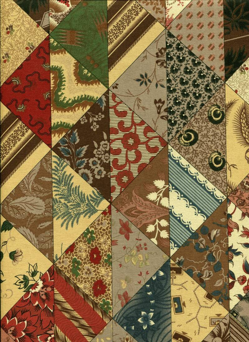 Romantic flowers in quilts