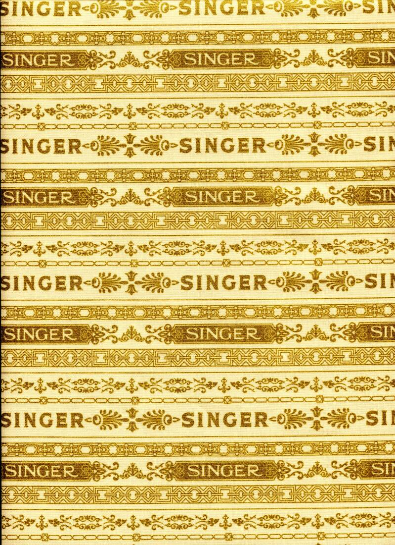 Sewing  Another Singer in the band with gold
