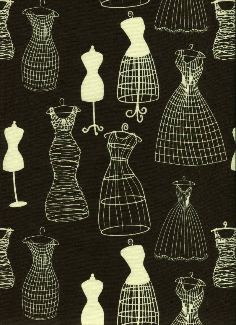 Sewing black and white
