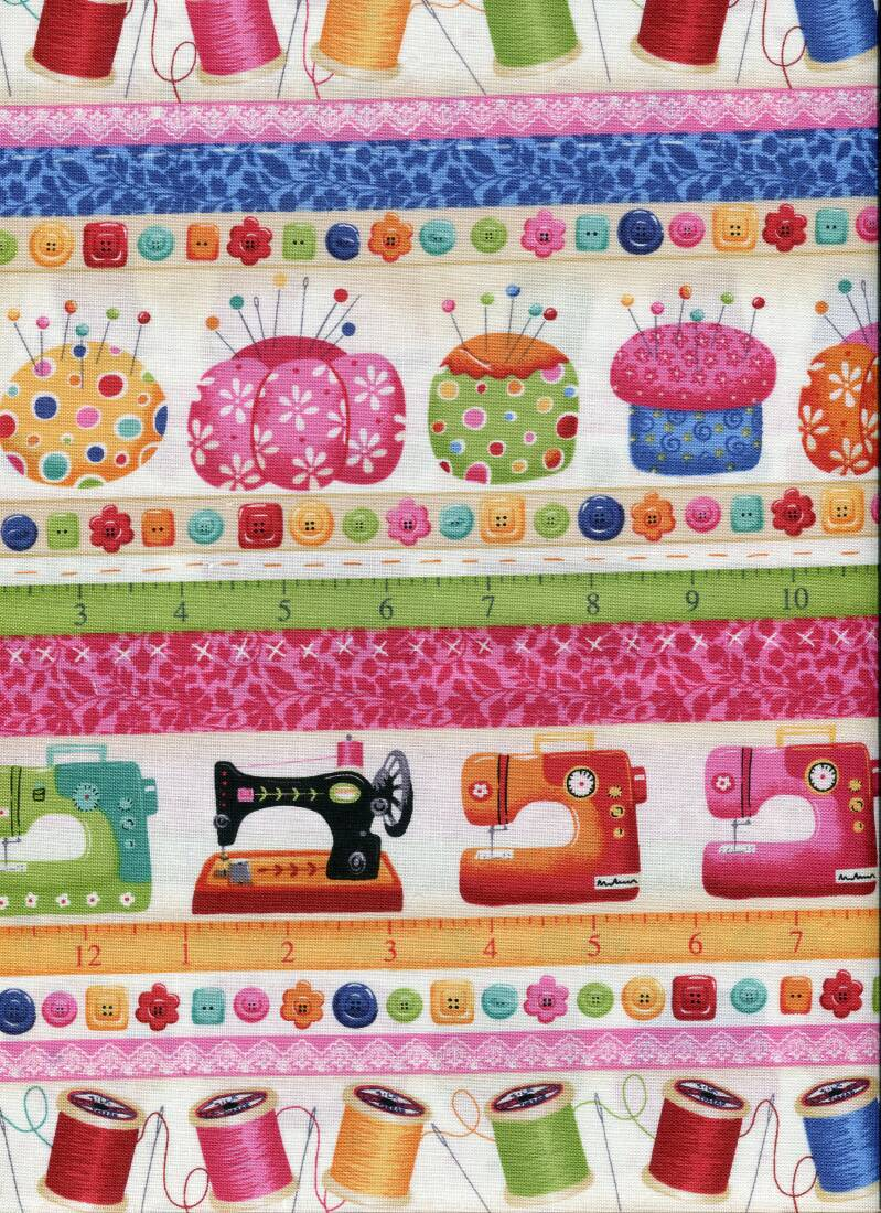 Sewing sew 12 long quarter 23x110cm