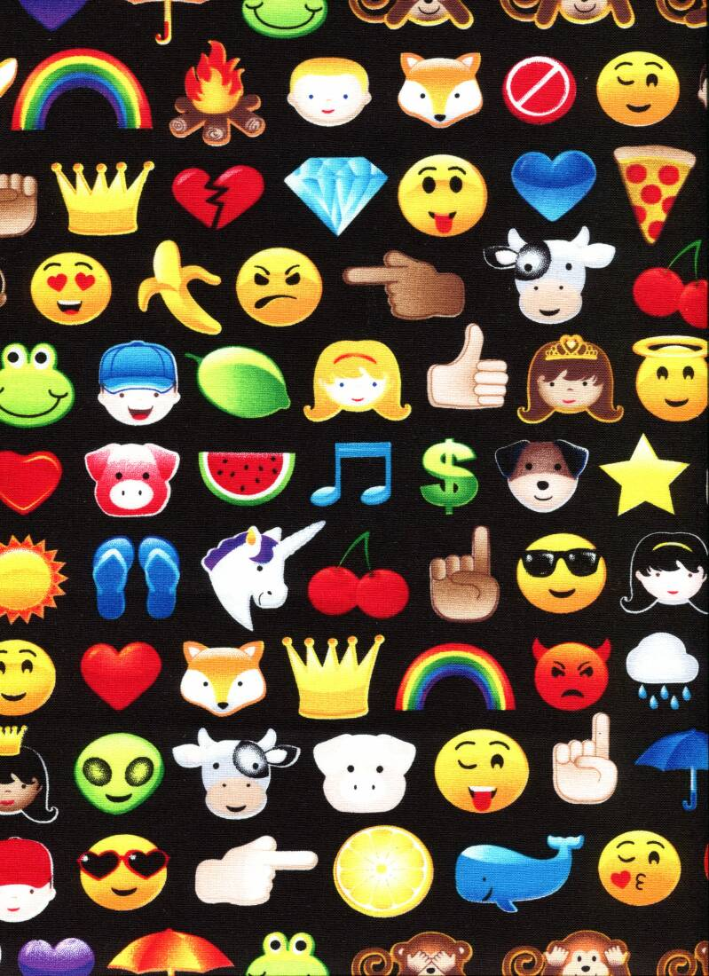 Sports and games emoticons on black