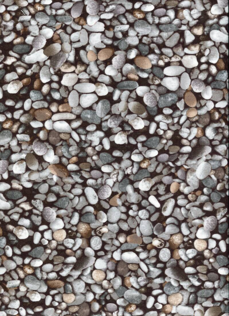 Stones and wood pebbles