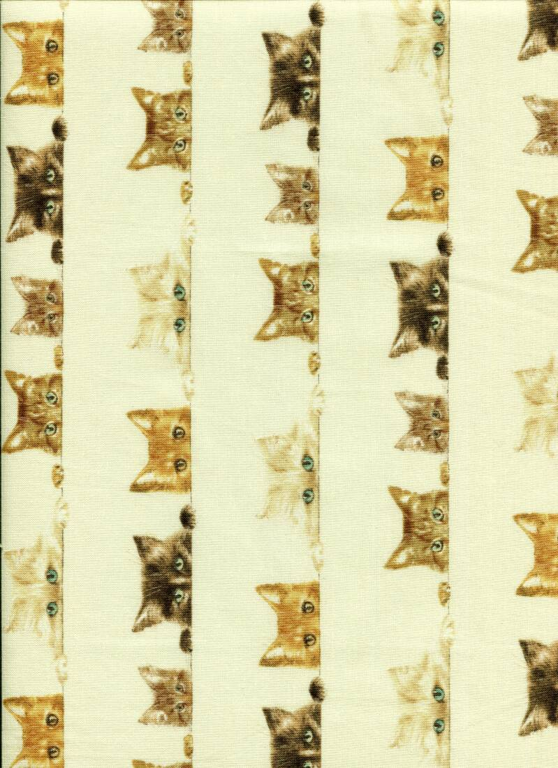 Cats and dogs cat 21 long quarter 23x110cm