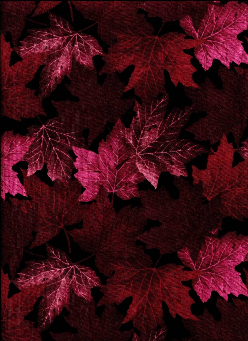 Nature red leaves