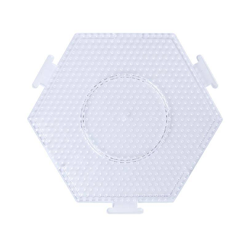 Artkal BP07 - 5mm Clear Large Hexagon Pegboard (Join Multiple Together)