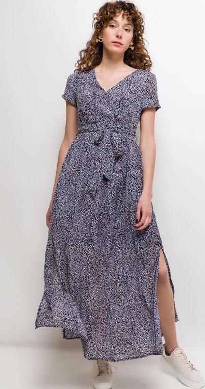 Summer long dress blue