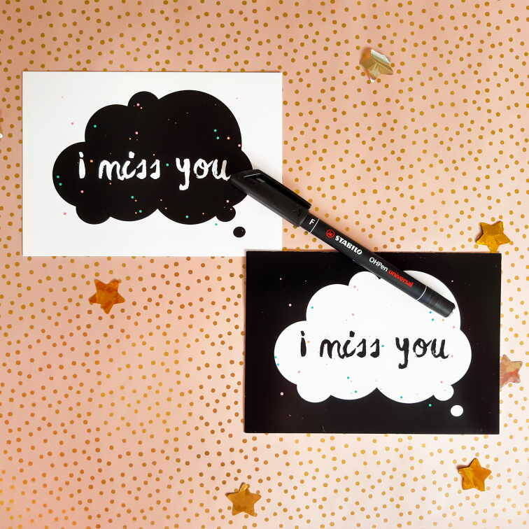 Kaartjes setje I Miss You