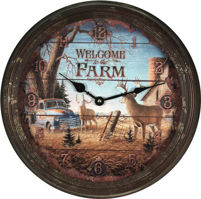 "Nostalgische Klok "" Welcome to the farm """