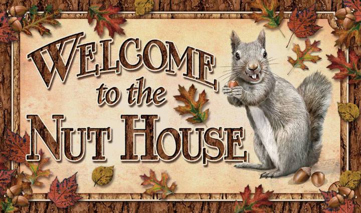 "Deurmat "" Welcome to the nuthouse """