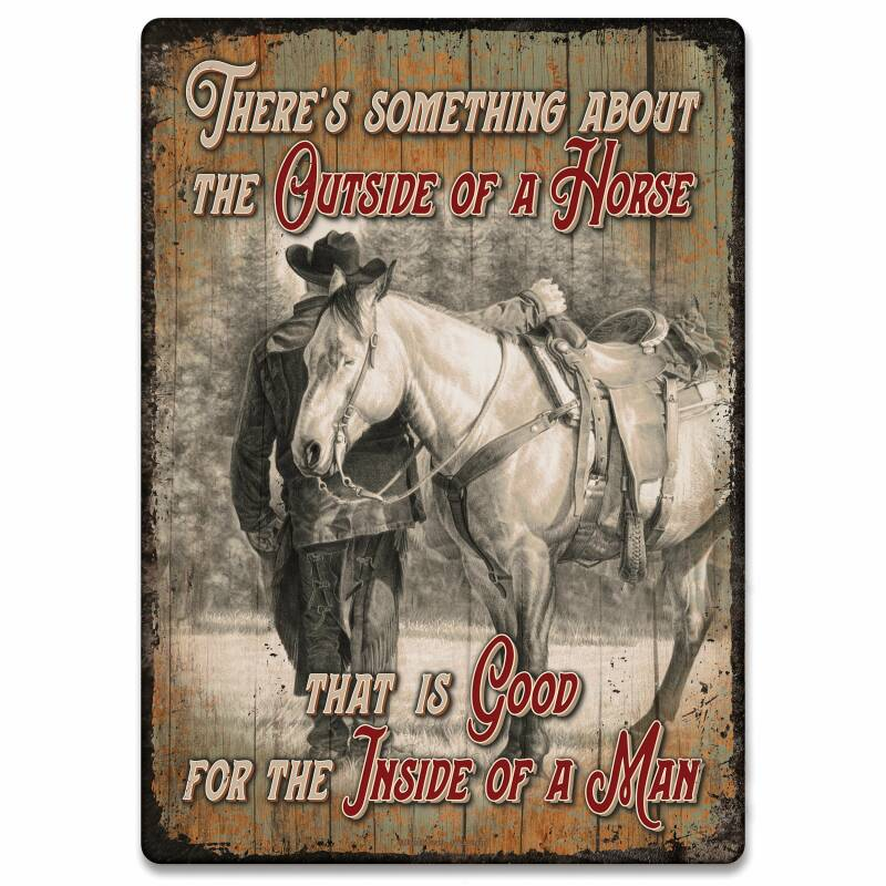 """Sign """" Outside off the Horse"""""""
